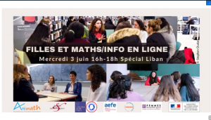 Filles et Maths/Informatique en ligne - Special Liban - 3 juin 2020